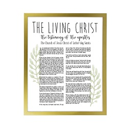 Framed Laurel Living Christ - Gold framed living christ, living christ framed, pretty living christ