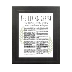Framed Laurel Living Christ - Gold Pinstripe framed living christ, living christ framed, pretty living christ