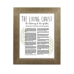 Framed Laurel Living Christ - Sandstone framed living christ, living christ framed, pretty living christ