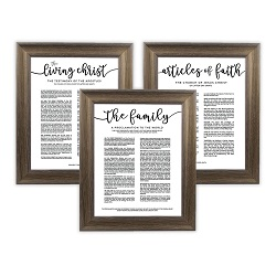 Framed Church Proclamations Pack - Rustic Ash Framed family proclamation