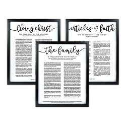 Framed Church Proclamations Pack - Black Framed family proclamation