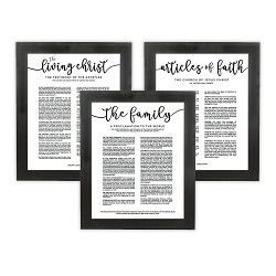 Framed Church Proclamations Pack - Beveled Black - LDP-FR-ART-CP3PAK-BVLBLK