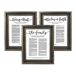 Framed Church Proclamations Pack - Barnwood - LDP-FR-ART-CP3PAK-BW