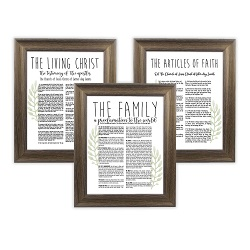 Framed Laurel Church Proclamations Pack - Rustic Ash Framed family proclamation
