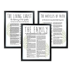 Framed Laurel Church Proclamations Pack - Black Framed family proclamation