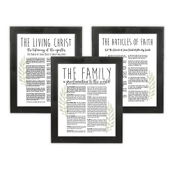 Framed Laurel Church Proclamations Pack - Beveled Black Framed family proclamation