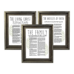 Framed Laurel Church Proclamations Pack - Barnwood  Framed family proclamation