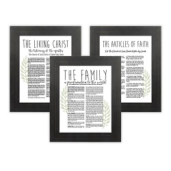 Framed Laurel Church Proclamations Pack - Pinstripe Framed family proclamation