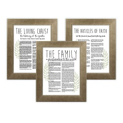 Framed Laurel Church Proclamations Pack - Sandstone Framed family proclamation