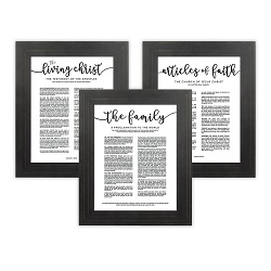Framed Church Proclamations Pack - Pinstripe Framed family proclamation