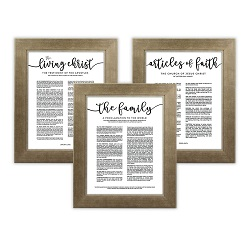 Framed Church Proclamations Pack - Sandstone Framed family proclamation