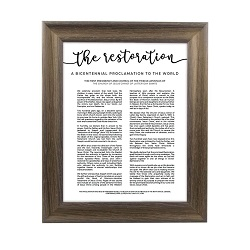 Framed Restoration Proclamation - Rustic Ash framed restoration proclamations, framed lds proclamations, framed lds restoration proclamations