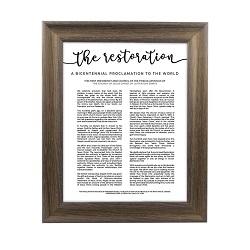 Framed Restoration Proclamation - Rustic Ash - LDP-FR-ART-RESTORATION-ASH