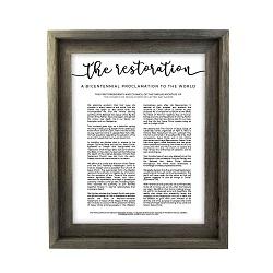 Framed Restoration Proclamation - Barnwood - LDP-FR-ART-RESTORATION-BW