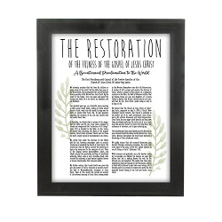 Framed Laurel Restoration Proclamation - Beveled Black framed family proclamation, family proclamation framed, pretty family proclamation