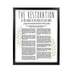 Framed Laurel Restoration Proclamation - Black framed laurel restortion, family proclamation framed, pretty family proclamation