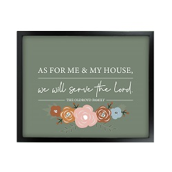 As For Me and My House Floral Wall Art - Black - LDP-ART-HOUSE-FLORAL-BLK