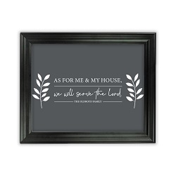 As For Me and My House Leaves Wall Art - Beveled Black - LDP-ART-HOUSE-LEAVES-BVBLK