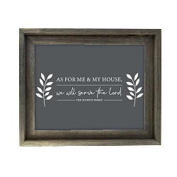 As For Me and My House Leaves Wall Art - Barnwood - LDP-ART-HOUSE-LEAVES-BW
