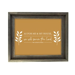 As For Me and My House Leaves Wall Art - Barnwood