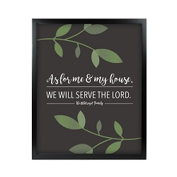 As For Me and My House Vine Wall Art - Black
