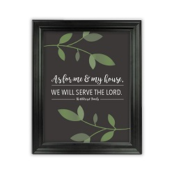 As For Me and My House Vine Wall Art - Beveled Black