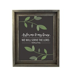 As For Me and My House Vine Wall Art - Barnwood