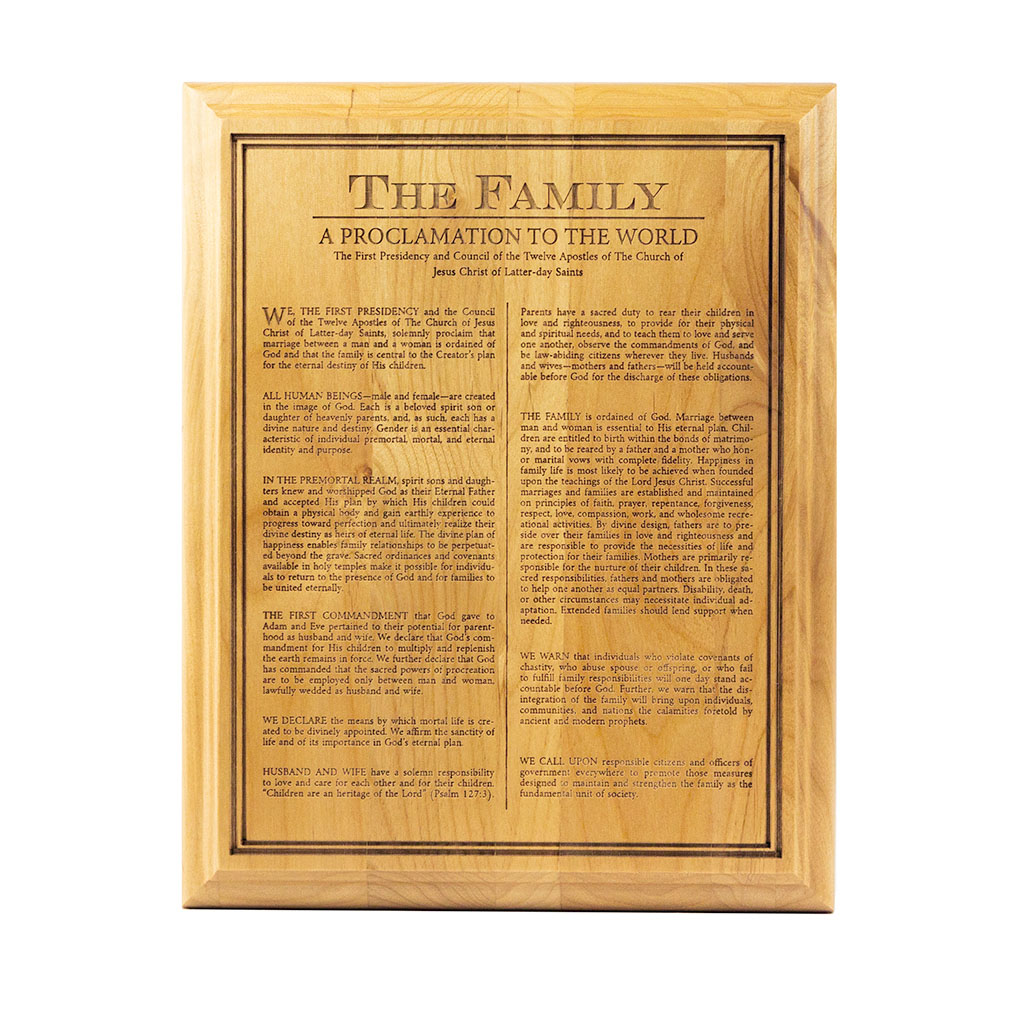 Family Proclamation Wood Plaque family proclamation wood plaque