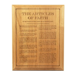 Articles of Faith Wood Plaque lds wood plaque, articles of faith wood plaque, articles of faith plaque
