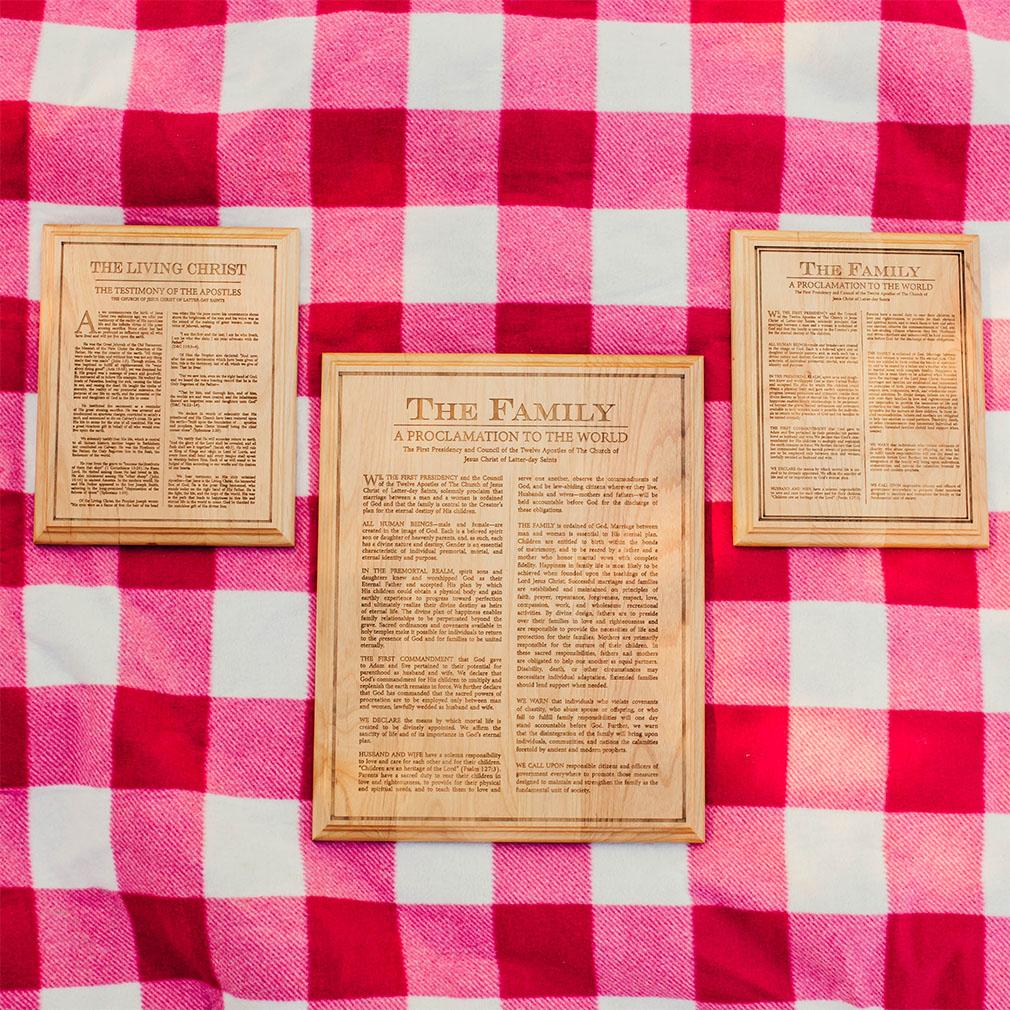 Articles of Faith Wood Plaque - LDP-PLQ400