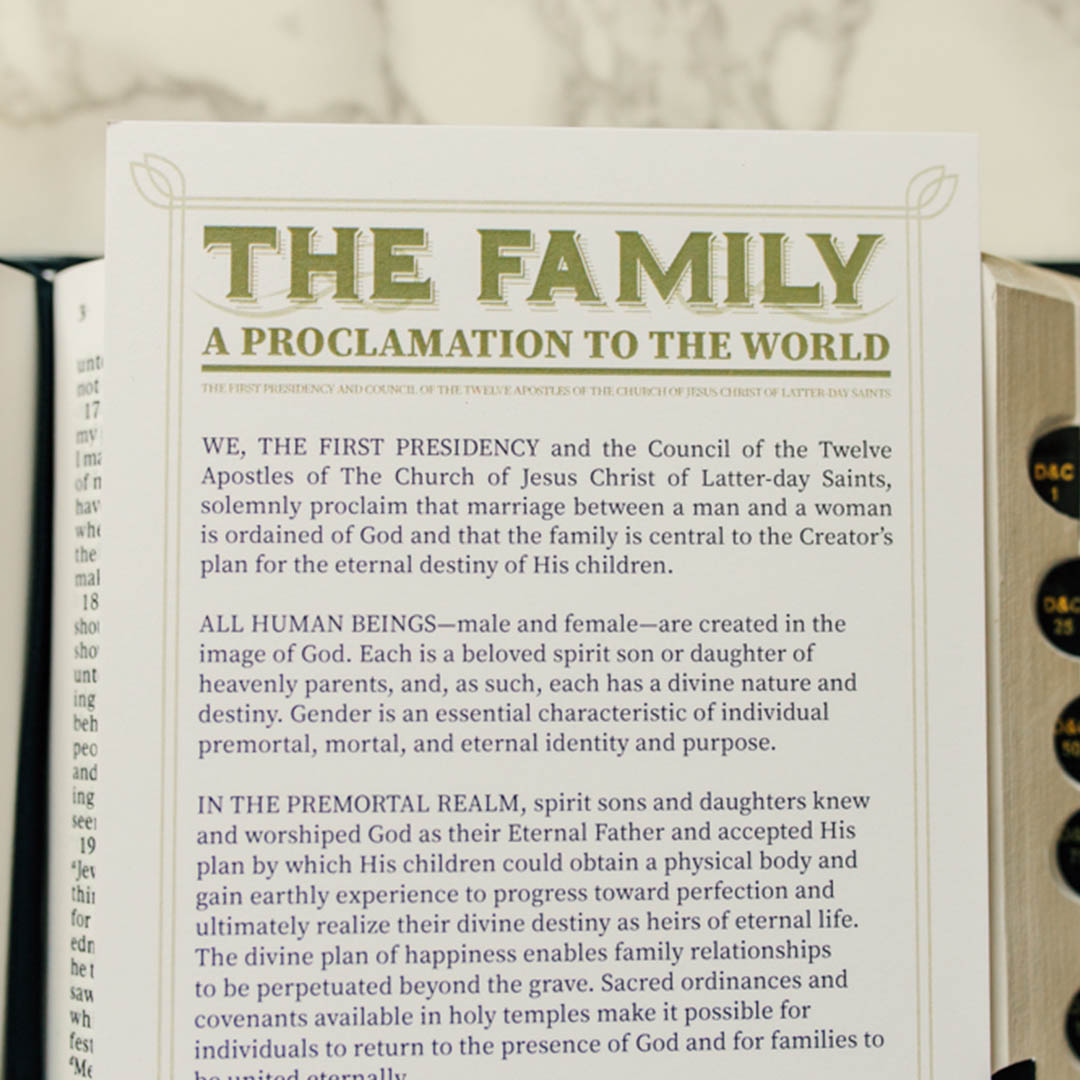Family Proclamation Bookmark - LDP-BKMK327