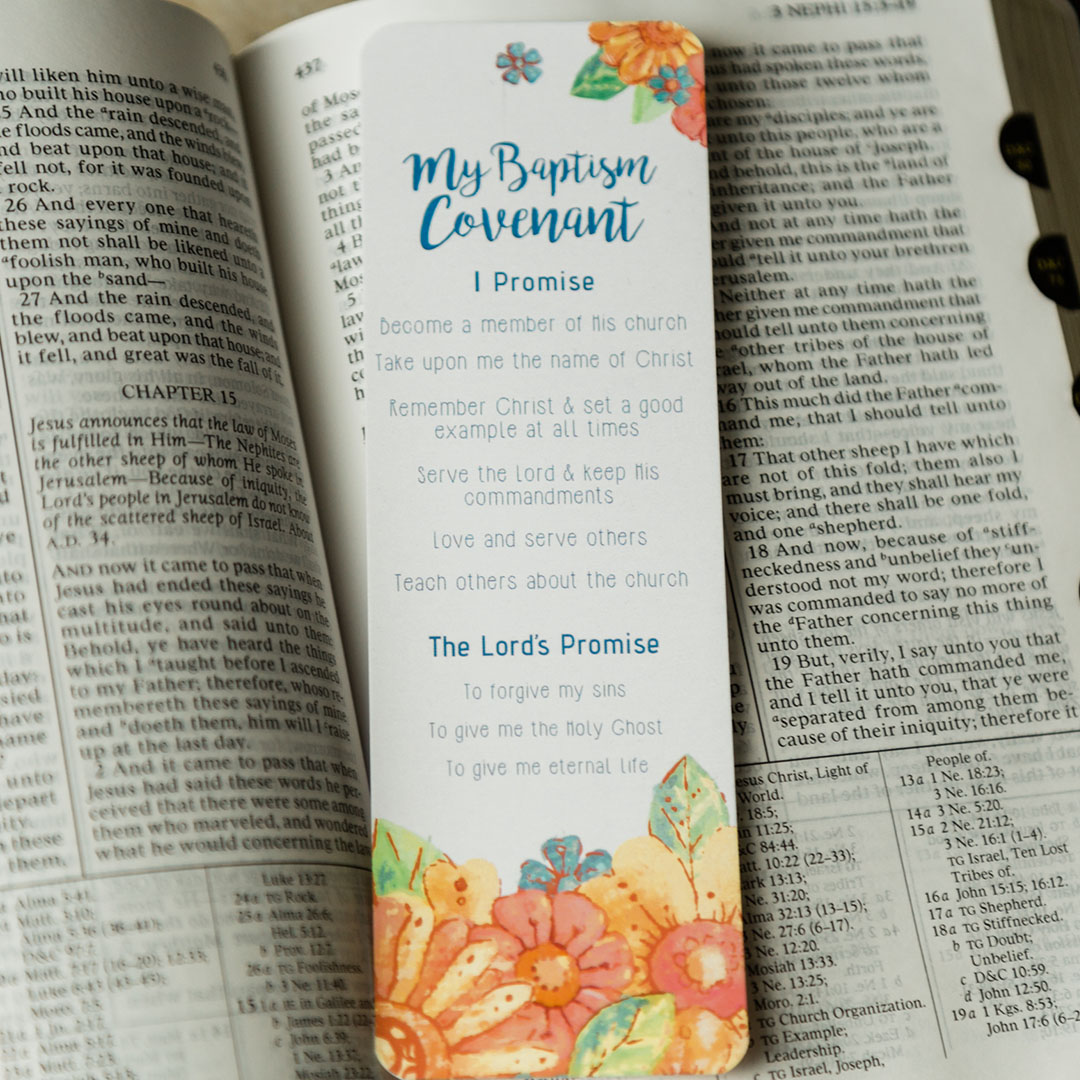 Girl's Baptismal Covenant Bookmark - LDP-BKMK335