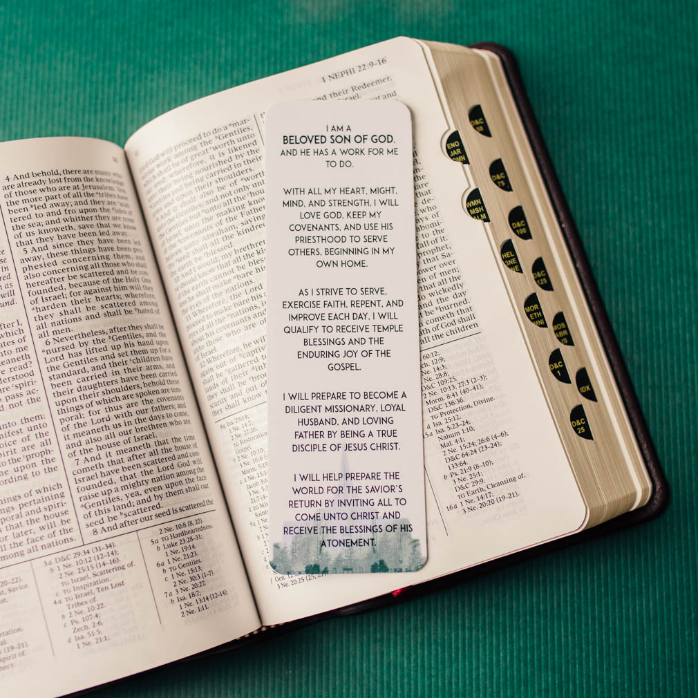Aaronic Priesthood Theme Bookmark - LDP-BKMK340