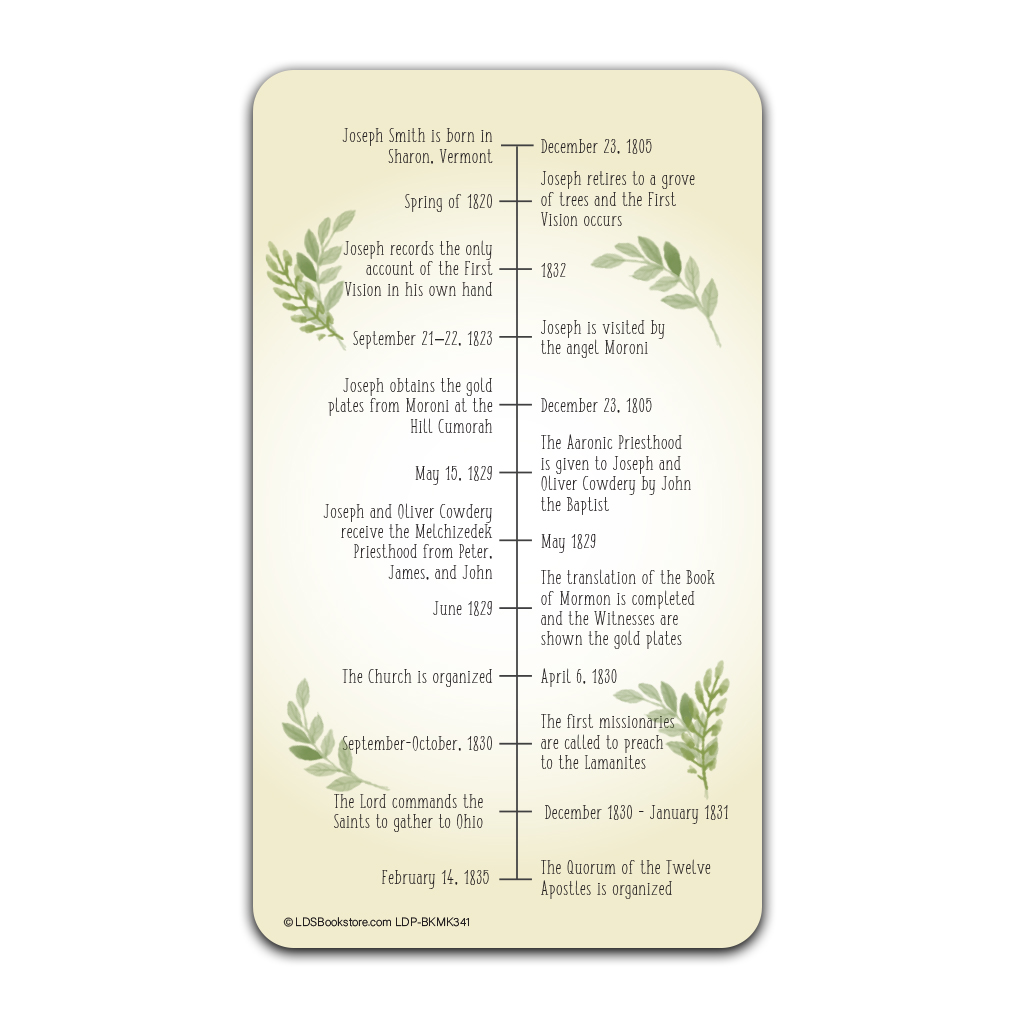 Gospel Restoration Bookmark - LDP-BKMK341