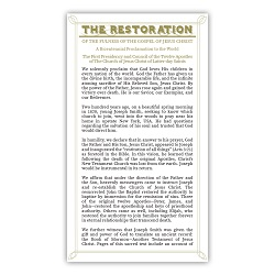 Restoration Proclamation Bookmark lds bookmarks, restoration bookmark, restoration proclamation bookmark, lds bookmark,