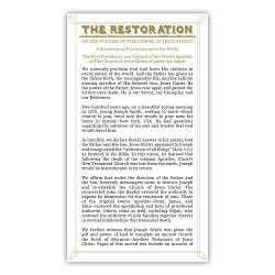 Restoration Proclamation Bookmark - LDP-BKMK342