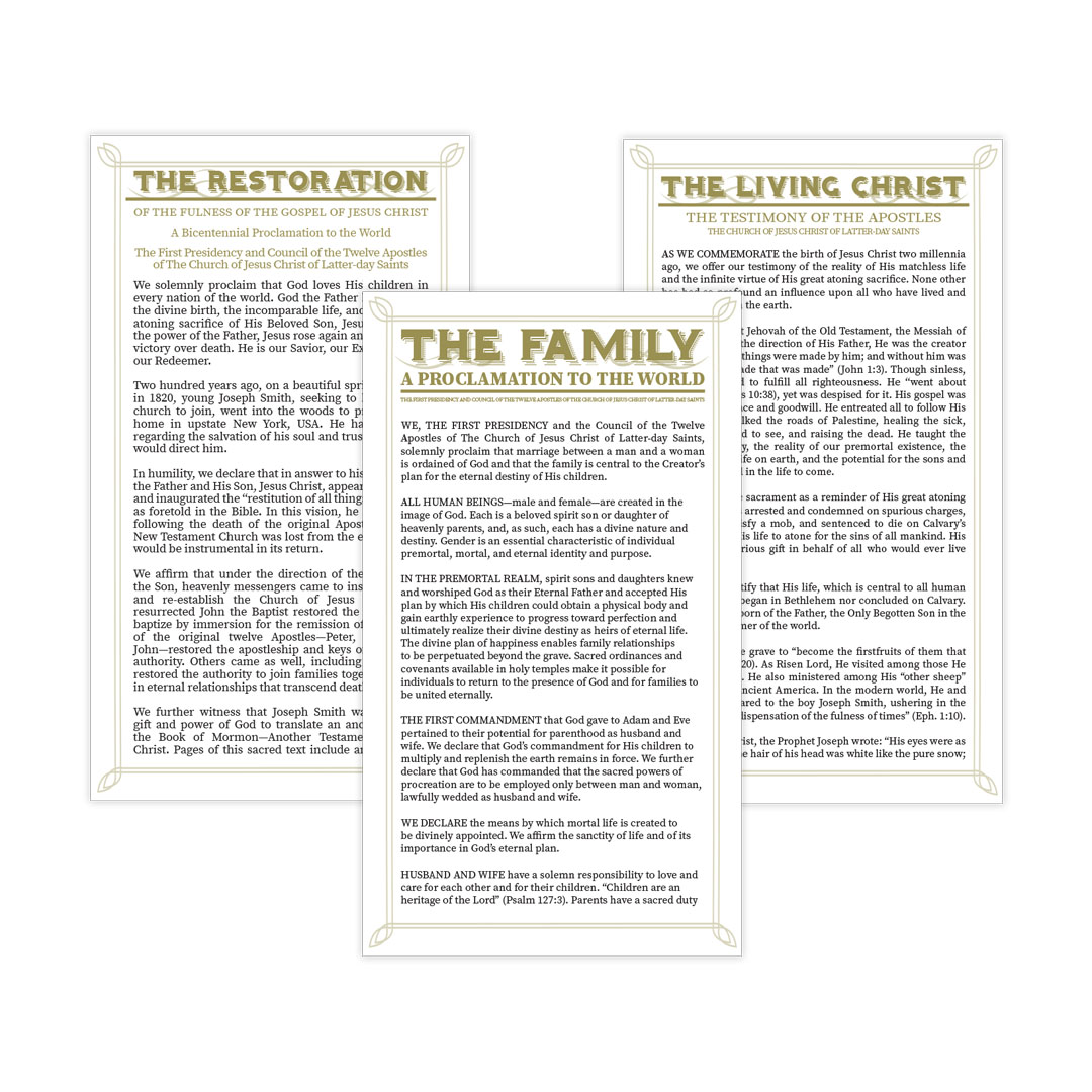 Church Proclamation Bookmark Set
