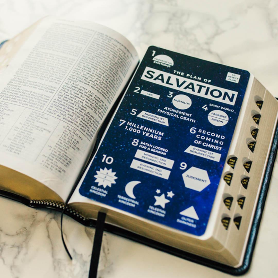 Plan of Salvation Bookmark - Galaxy - LDP-POSBKMKGALAXY