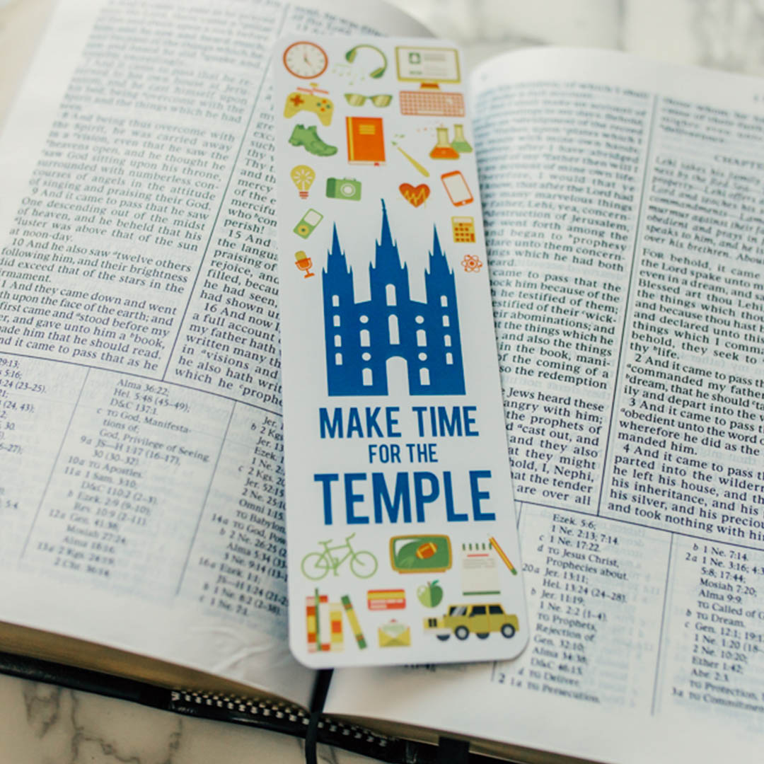 Make Time for the Temple Bookmark - LDP-TEMPBKMK