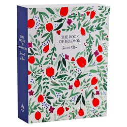 The Book of Mormon Journal Edition - Red Floral book of mormon journal edition, book of mormon floral, floral journal