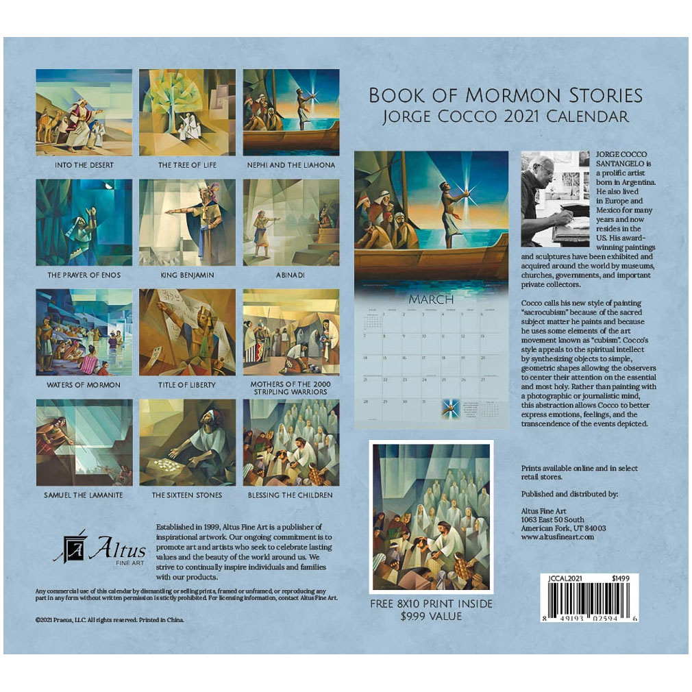 2021 Jorge Cocco Calendar - Book of Mormon Stories - AFA-JCCAL2021