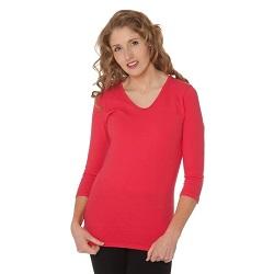 Basic Tango Red V-Neck 3/4 Sleeve Shirt - HL-3.4-TANGORED