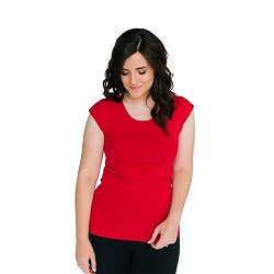 Basic Tango Red Cap Sleeve Shirt