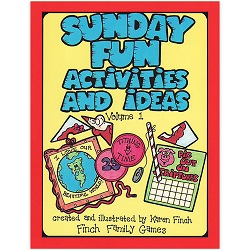 Sunday Fun Activities and Ideas Volume 1 sunday fun activities and ideas volume 1,sunday fun activities and ideas,karen finch books,family home evening games,games for family home evening,fhe games,games for fhe,games for church,lds games,finch family games,games for kids,primary games,primary books,games for primary,games for primary kids,lds primary,lds primary kids