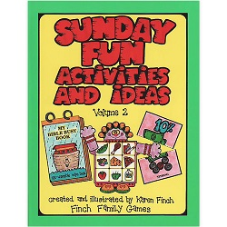 Sunday Fun Activities and Ideas Volume 2 sunday fun activities and ideas volume 2,sunday fun activities and ideas,karen finch books,family home evening games,games for family home evening,fhe games,games for fhe,games for church,lds games,finch family games,games for kids,primary games,primary books,games for primary,games for primary kids,lds primary,lds primary kids