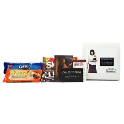 Sister Missionary Gift Box - Basic sister missionary gifts, sister missionary gift box, gifts for sister missionaries, lds mission gifts,