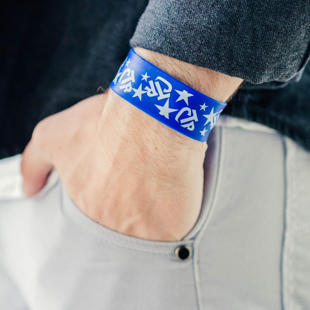 Blue CTR Slap Bracelet - RM-JRY231