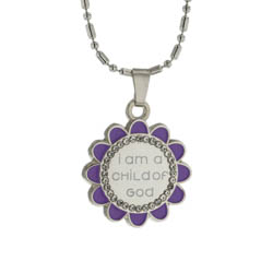 Flower Child of God Necklace - Purple flower child of god necklace,purple flower child of god necklace,child of god necklace,flower child of god jewelry,purple child of god jewelry,child of god jewelry,lds necklace,lds child necklace,lds jewelry, lds child jewelry,purple flower necklace,flower necklace,baptism necklace,lds gift necklace,flower lds necklace,flower lds,lds flower,lds flower jewelry,latter day saint jewelry,primary jewelry,mormon jewelry,mormon necklace,child necklace,latter day saint child