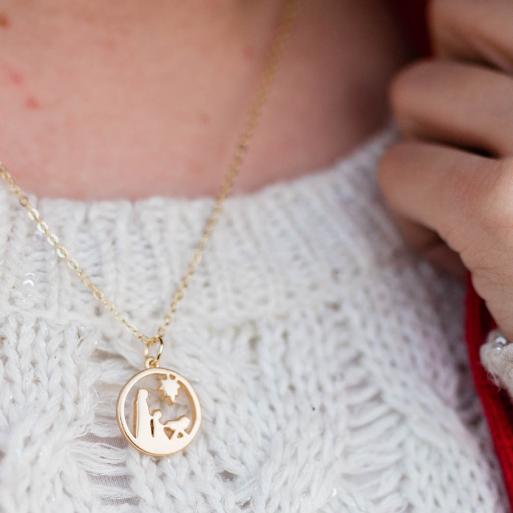 Nativity Charm Necklace - DBS-MC11
