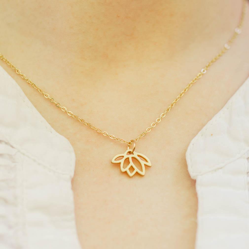 God is the Gardener, Lotus Flower Necklace - DBS-MJ204G
